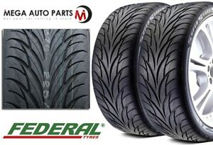 2 New Federal Ss595 205 40zr17 80v Bsw All Season Uhp High Performance Tires