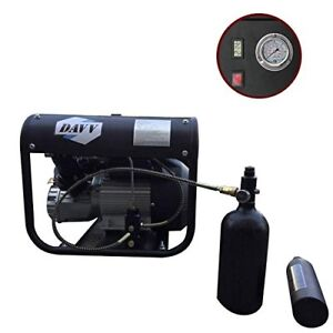 60l Electric Air Compressor For Airgun Paintball Refilling Pump Machine 30mpa