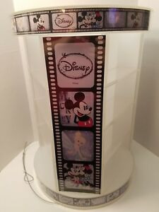 Disney Characters Open Display Case 3 Sided Circular Spinner Jewelry Pins Watch