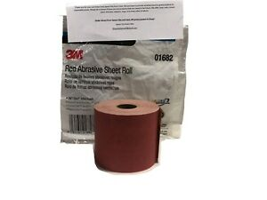 3m Red 1682 Stick It Adhesive Back Continuous Sheet Roll Sandpaper 320 Grit Psa