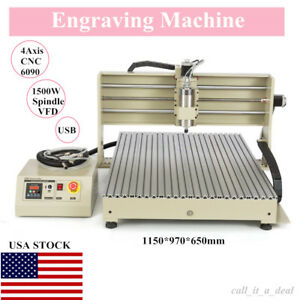 Engraving Machine Usb 6090 4axis Cnc Router Engraver Milling Drilling 1 5kw Vfd