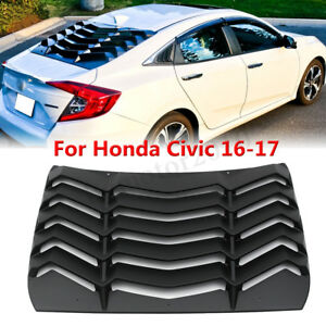 Abs Rear Window Windshield Louvers Cover Sun Shade For Honda Civic 2016 2017 Us