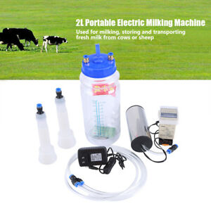 Electric Milking Machine For Cows Sheep Goat 100 250v 2l W Pulse Controller Us