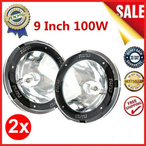 1 Pair 9 Inch 12v 100w Hid Driving Lights Xenon Spotlights For Offroad New Qq