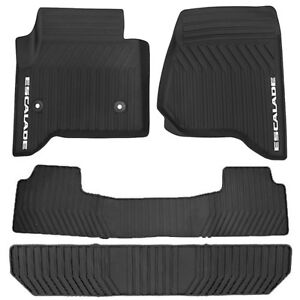 Black All Weather Rubber Floor Mat 4pc Set Fits Gm Cadillac Escalade 2015 2018