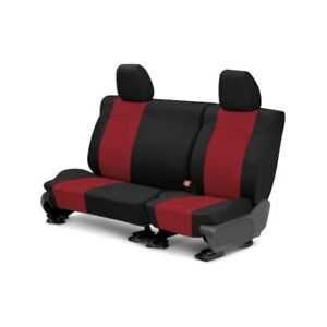 For Honda Prelude 97 01 Carbon Fiber 2nd Row Black Red Custom Seat Covers