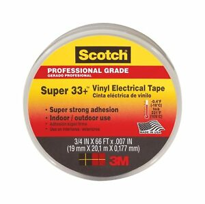 Scotch Super 33 Vinyl Electrical Tape 75 inch By 66 feet 6 pack