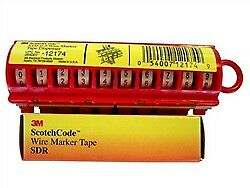 Sdr t3 Wiremarker Tape Refill Roll Symbol T3 pack Of 10