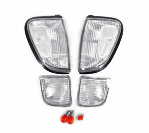 Depo Clear Front Corner Bumper Signal Lights Fit 98 99 00 Toyota Tacoma 4wd