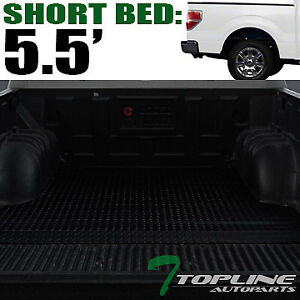 Topline For 2004 2014 Ford F150 5 5 Short Cab Rubber Truck Bed Mat Liners Blk