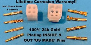 Western Fisher Snow Plow Truck Controller 4 Gold Pin Plug Repair Kit Ultramount