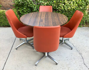 Vintage Chromcraft Danish Mid Century Modern Spaceage Dining Dinette Kitchen Set