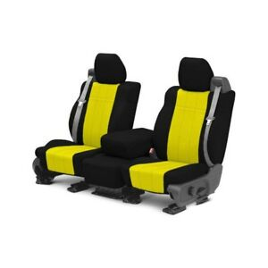 For Mg Mgb 73 80 Caltrend Neosupreme 1st Row Black Yellow Custom Seat Covers