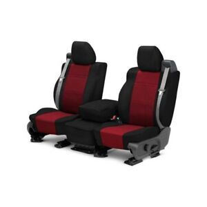 For Mg Mgb 73 80 Caltrend Neosupreme 1st Row Black Red Custom Seat Covers