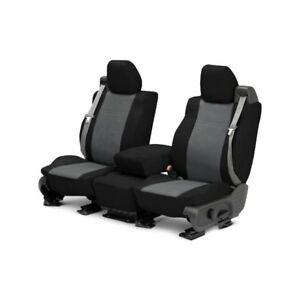 For Mg Mgb 73 80 Caltrend Duraplus 1st Row Black Charcoal Custom Seat Covers