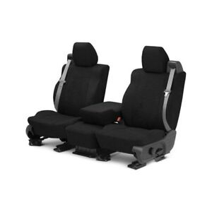 For Toyota Previa 91 93 Caltrend Microsuede 1st Row Black Custom Seat Covers
