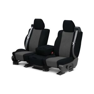 For Toyota Previa 91 93 Tweed 1st Row Black Charcoal Custom Seat Covers