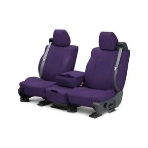 For Toyota Previa 91 93 Caltrend Tweed 1st Row Purple Custom Seat Covers