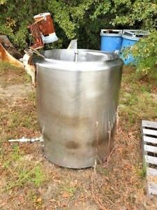 100 Gallon Stainless Steel Insulated Mix Tank Open Top