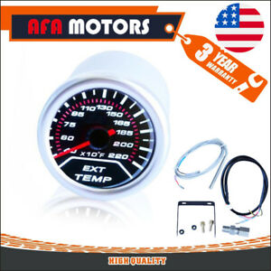 Universal Exhaust Temperature Gauge Meter Ratio Led Display Engine Dial Smoke