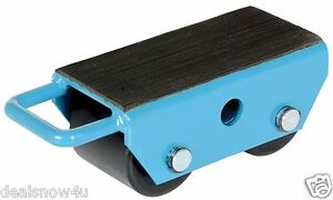 Machinery Skate Fixed 2 Nylon Rollers 2 5 Ton Loads Heavy Equipment Dolly Rig