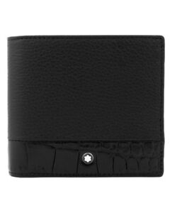 Montblanc Meisterst ck 4cc Coin Case Soft Grain Black Leather Wallet 118758