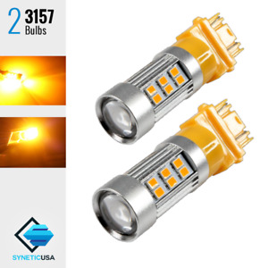 2x 3157 3057 3457 Hi Power 2835 Led 1027lm Yellow Amber Turn Signal Light Bulbs