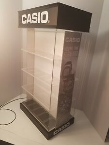 Casio Watch Counter Top Acrylic Spinner Jewelry Display Case Lockable W Key