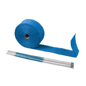 Blue Pipe Wrap Exhaust Turbo Heat Manifold Header 2 X 50ft Roll Very High Temp