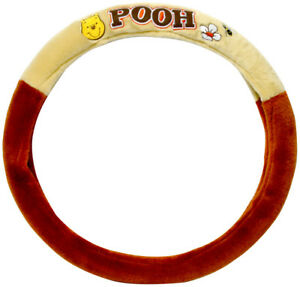 Disney Winnie The Pooh Doll Toy Car Accessories Steering Wheel Cover Seat Cover