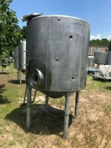 300 Gallon 316 Stainless Steel Processing Tank Vertical W Jacket Full Vac