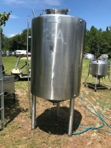 200 Gallon 316 Stainless Steel Processing Tank Vertical W Jacket Full Vacuum