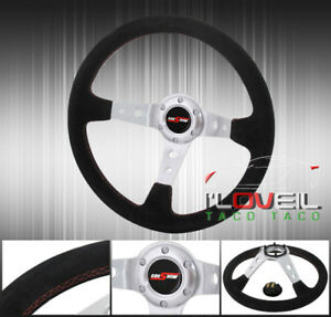 Drifting Tracking Road Race Tuning Sport Steering Wheel God Snow Button Horn Jdm