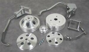 Small Block Chevy Short Pump Engine Bracket Pulley Kit Alternator Compressor