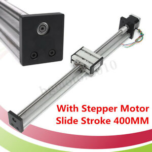1204 Ball Screw Cnc Linear Slide Stroke 400mm Stage Actuator With Stepper Motor