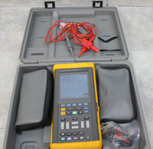 Fluke 96b Scopemeter Series Ii 60mhz Handheld Oscilloscope W Accessories