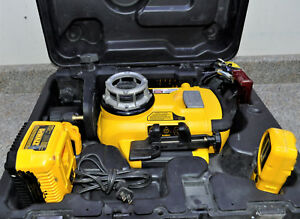 Dewalt Rotary Laser Level Dw079 W remote Battery Used In Case Fast Shipping