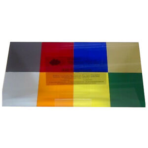 Plastic Perspex Acrylic Plastic Sheets Transparent A3 X Mixed Pack Of Tints 3mm