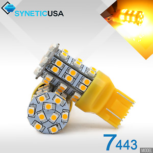 2x 7443 7440al Led Amber Yellow Rear Turn Signal Parking 195lm Light Bulbs