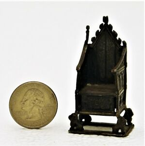 Sterling Silver Miniature English Coronation Chair