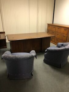 Traditional Style Executive L shape Desk By Kimball Office Furniture In Mahogany