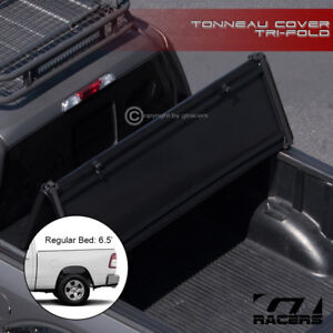 For 2019 Dodge Ram 1500 6 4 Ft 76 8 Bed Tri Fold Soft Vinyl Tonneau Cover