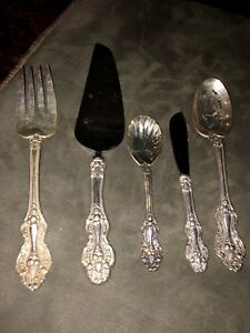 5 Reed Barton King Francis Silverplate Cake Fork Spoon Cake Butter Extra