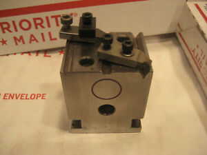 Machinist Precision Inspection Block With Clamps Rod Holding V s