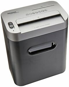 Shredder Amazonbasics 8 sheet High security Micro cut Paper Cd Credit Card New