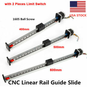 New Cnc Linear Rail Guide Slide Stage Actuator Ball Screw Motion 400 500 600mm