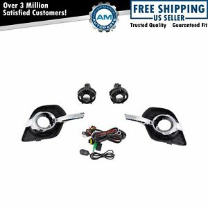 Add On Upgrade Clear Lens Fog Light Bulb Switch Wiring Kit For Chevy Equinox New