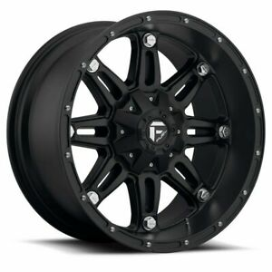 20 Fuel Hostage D531 Black Wheel 20x10 8x170 18mm Lifted For Ford 8 Lug Truck
