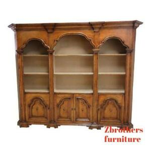 Vintage Italian Monumental 3 Piece Custom Bookcase China Cabinet Hutch