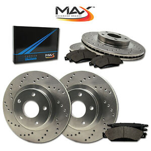 Front Rear Rotors W Metallic Pad Drilled Brakes 1994 2004 Mustang Cobra